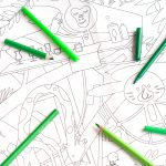 Giant Colouring Picture Jungle detail