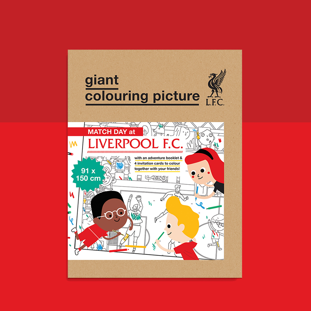 Liverpool FC colouring picture