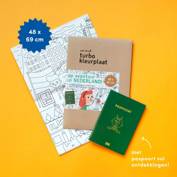 Mega Colouring Picture the Netherlands (Dutch)