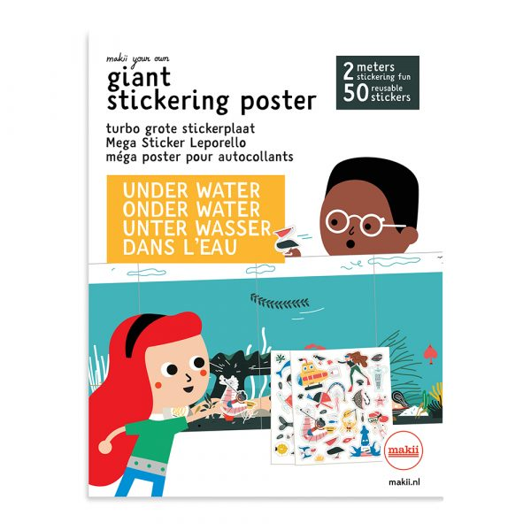 turbo grote stickerplaat water