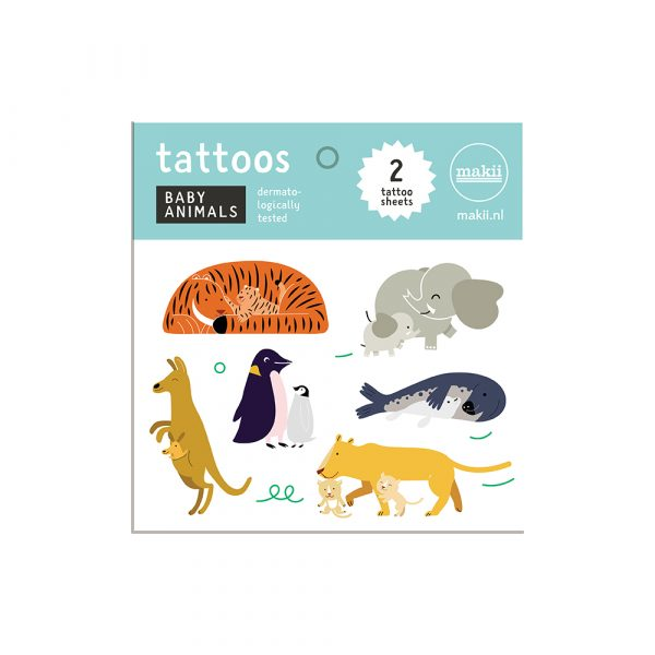 tattoo baby animals dieren