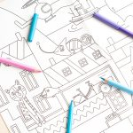 Giant Colouring Picture City detail