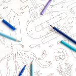 Giant Colouring Picture Water detail