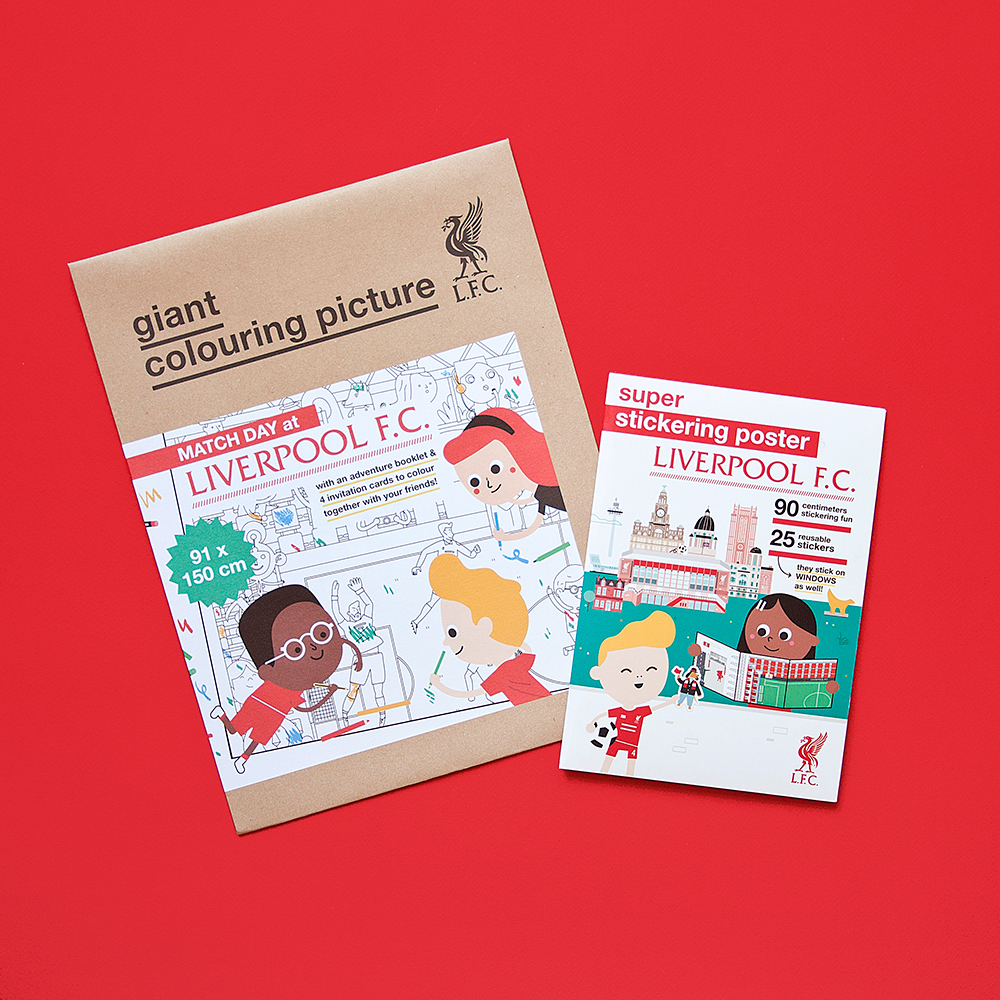 Liverpool FC colouring picture stickers