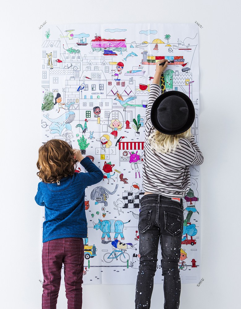 giant colouring picture kids