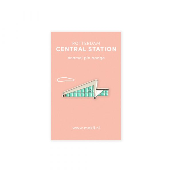 Emaille pin Rotterdam centraal station