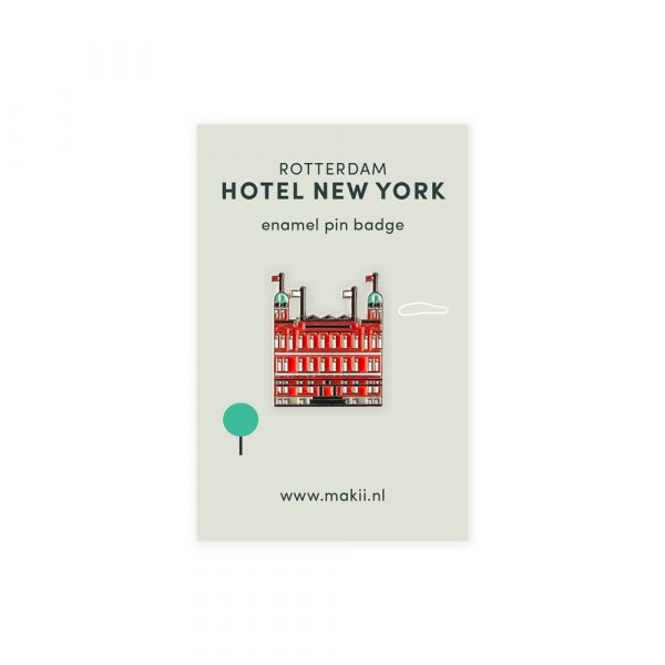 Emaille pin Rotterdam Hotel New York